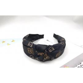 Stylish headbands black with brown design