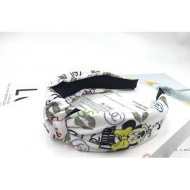 Stylish headbands brown mickey cc design white