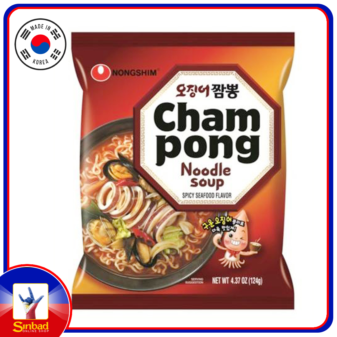 Nongshim CHAMPONG Noodle Soup SPICY SEAFOOD 124g