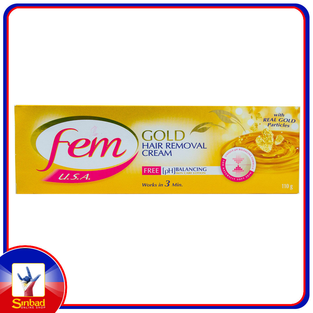 Fem Gold Hair Removal Cream Smooth & Glow 110g