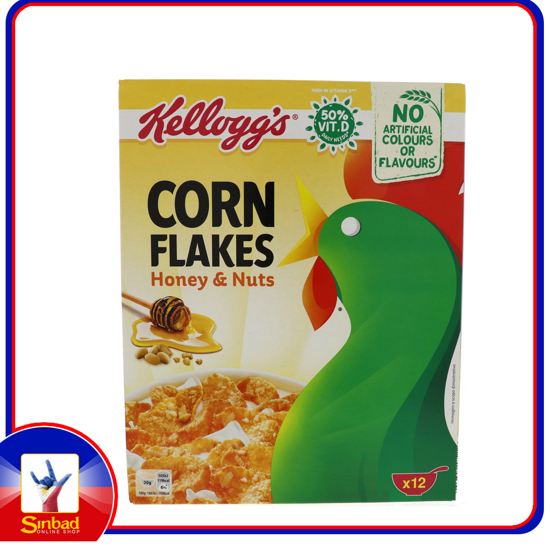 Kelloggs Corn Flakes Honey  Nuts 375g