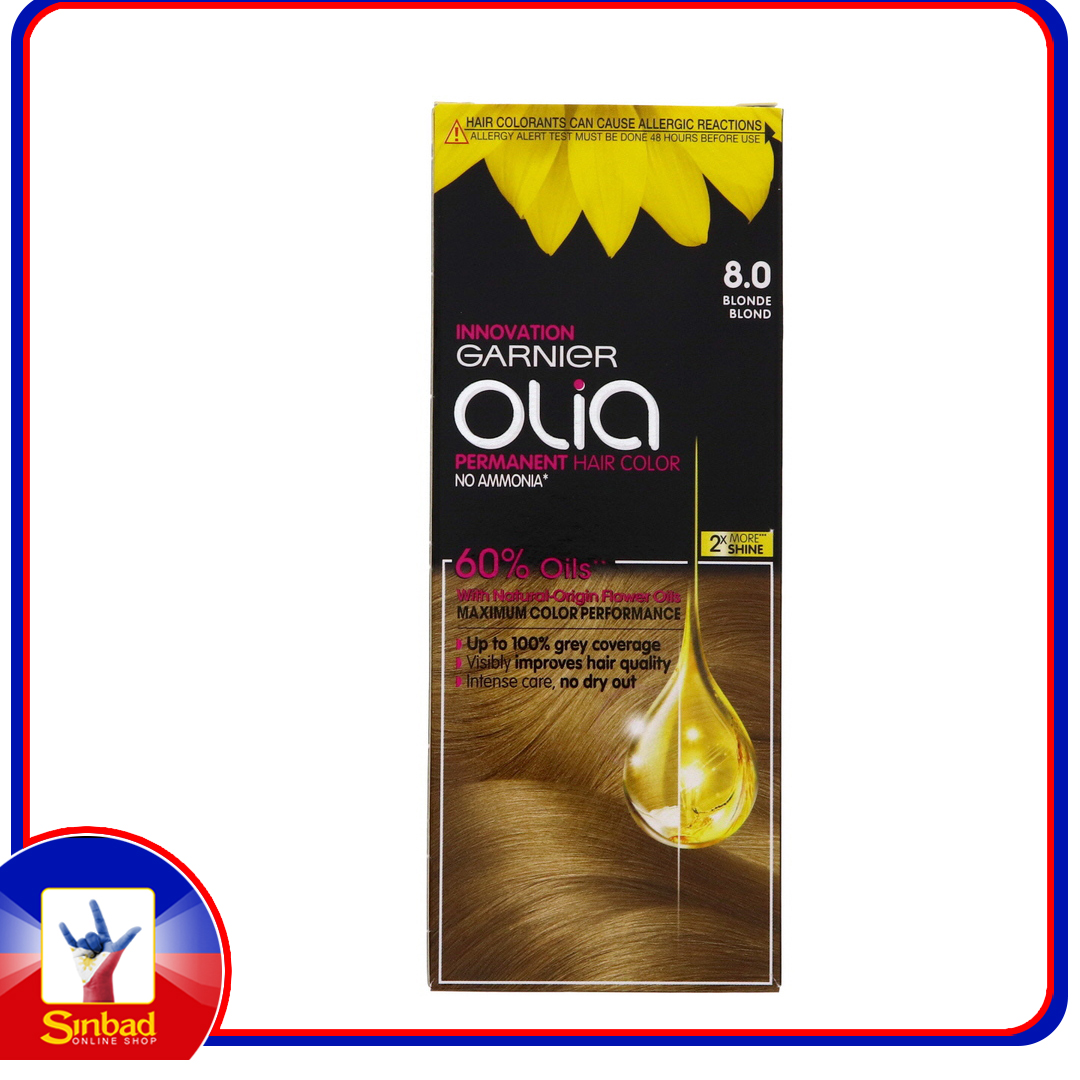 Garnier Olia Permanent Hair Color 8.0 Blonde 1pkt