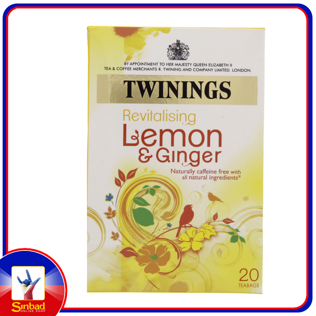 Twinings Revitalizing Lemon And Ginger 20pcs
