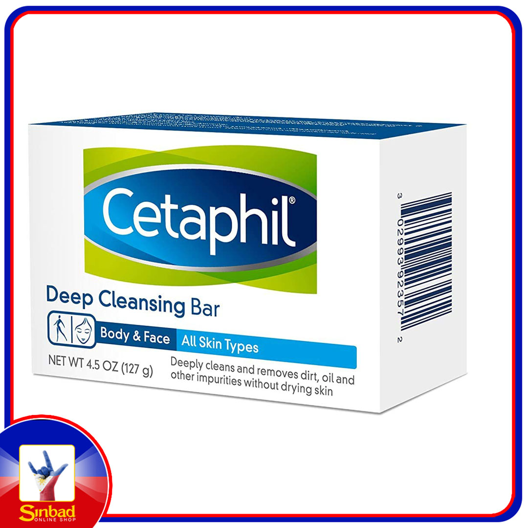 Cetaphil Deep Cleansing Face & Body Bar for All Skin