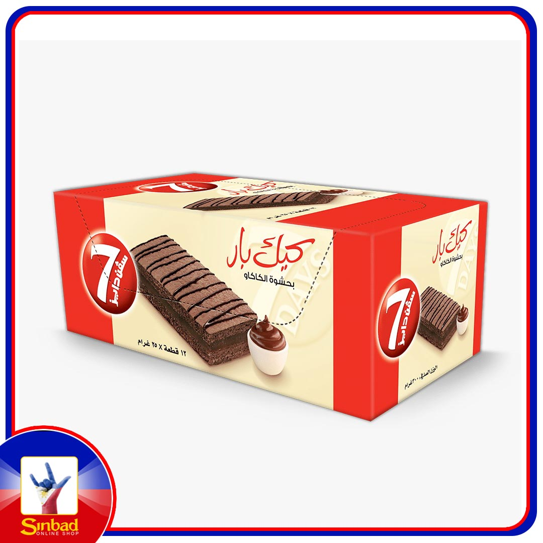 7 Days Cake Bar with cacao 12x25 g