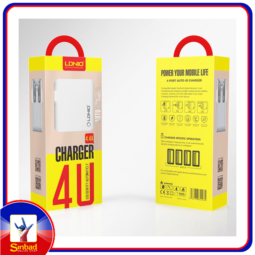 CHARGER LDNIO 4.4 A ( 4 U )